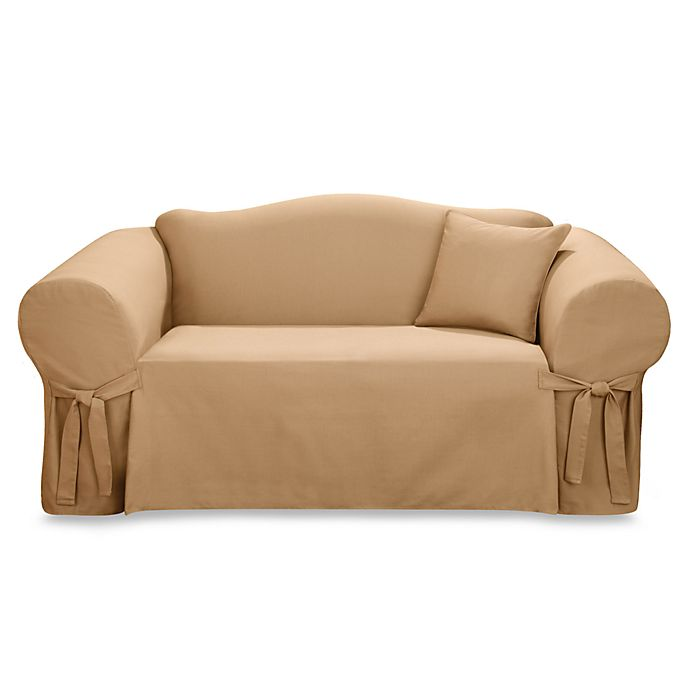 Camel One Piece Furniture Slipcover