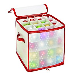 Holiday 64-Count Ornament Storage Box
