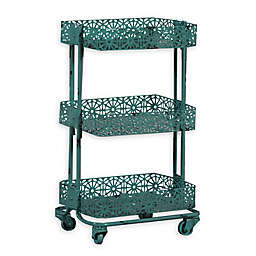 Linon Home Pierced Metal 3-Tier Cart