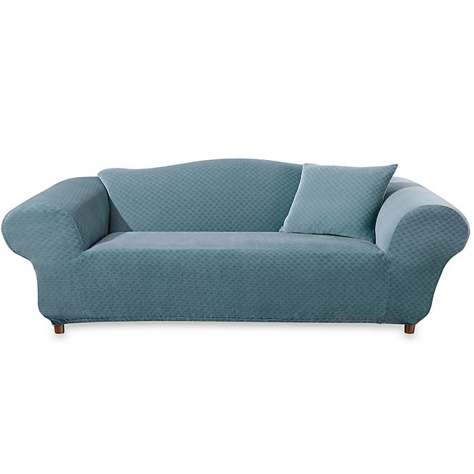 Teal One Piece Furniture Slipcovers