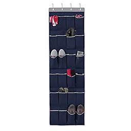 Studio 3B™ 24-Pocket Over-the-Door Shoe Organizer in Peacoat