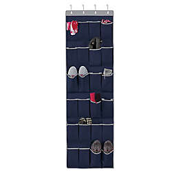 Studio 3B™ 24-Pocket Over-the-Door Shoe Organizer in Peacoat