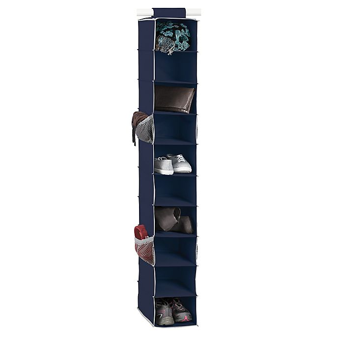 Alternate image 1 for Studio 3B™ 10-Shelf Hanging Shoe Organizer in Peacoat