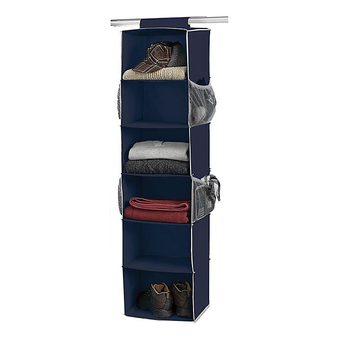 Alternate image 1 for Studio 3B™ 6-Shelf Hanging Shoe Organizer in Peacoat