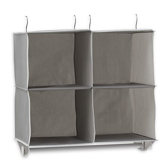 Alternate image 1 for Studio 3B™ 4-Shelf Hanging Cubby Organizer in Grey
