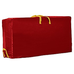 Simplify 9-Foot Heavy Holiday Rolling Christmas Tree Storage Tote in Red