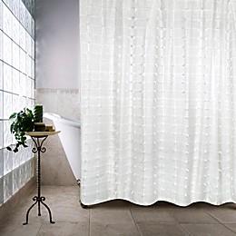 Palo Alto Shower Curtain in White