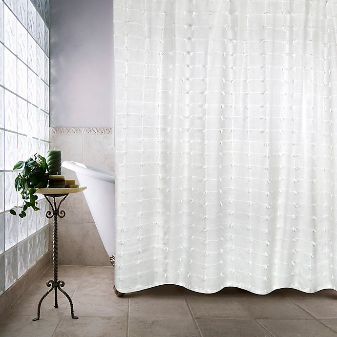 Alternate image 1 for Palo Alto Shower Curtain in White
