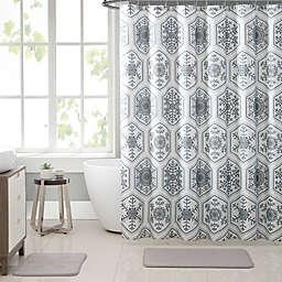 VCNY Home Crystal Snowflake 15 Piece Bath Bundle Set In Silver