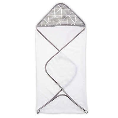 aden® by aden + anais® Denim Wash Hooded Towel in Grey/White