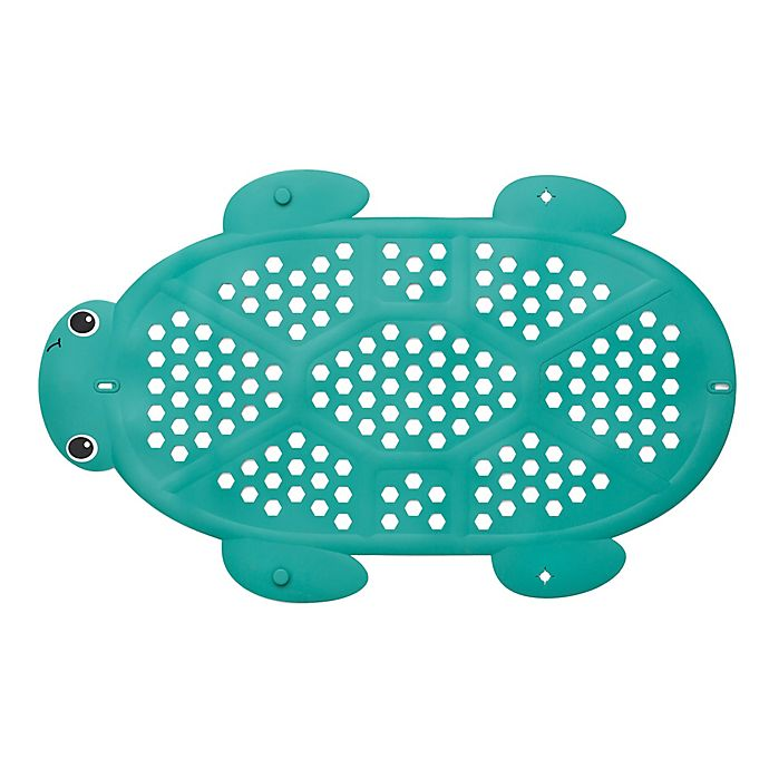 Alternate image 1 for Infantino® 2-in-1 Turtle Bath Mat and Storage Basket in Green