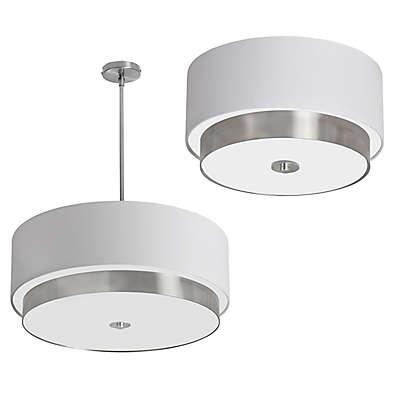 Dainolite Ceiling Light Colleciton in Satin Chrome