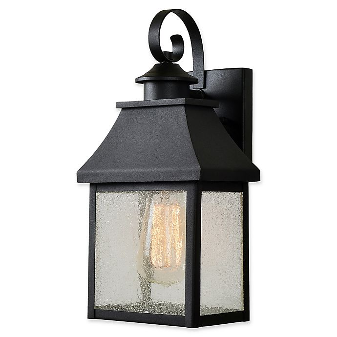Alternate image 1 for Nelson 13.5-Inch Outdoor Lantern in Black/Gold