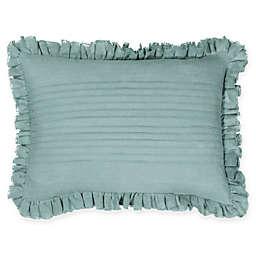 Wamsutta® Vintage Gauze Ruffle Oblong Throw Pillow in Aegean