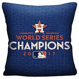 MLB Houston Astros 2017 World Series Champions Throw Pillow