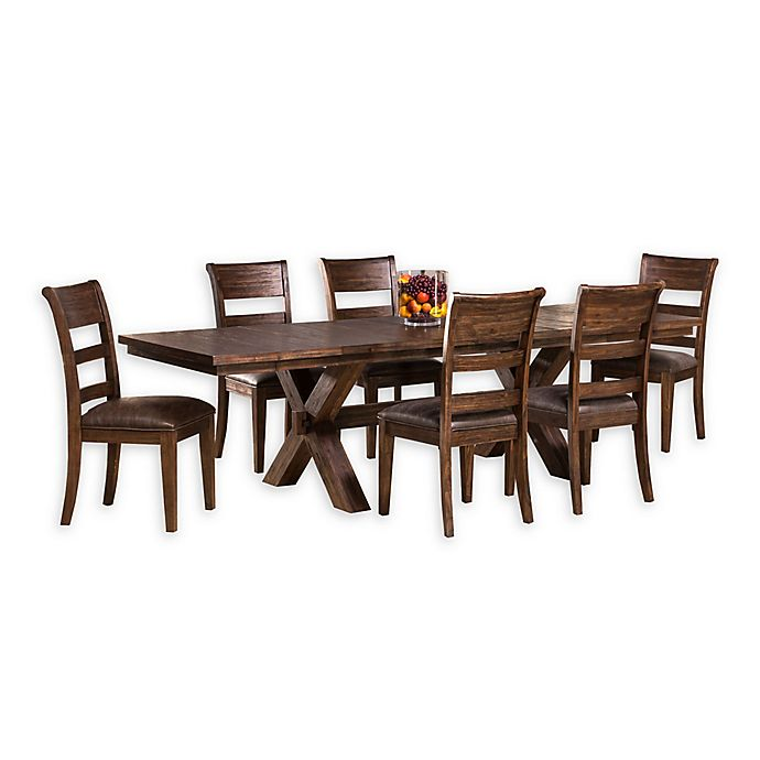 Sensational Hillsdale Furniture Park Avenue 7 Piece Dining Set In Walnut Pdpeps Interior Chair Design Pdpepsorg