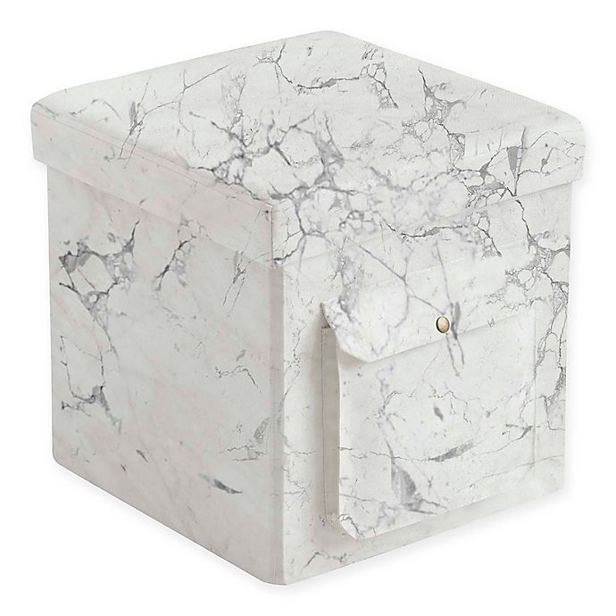 Alternate image 1 for Folding Ottoman with Laptop Tray in Marble