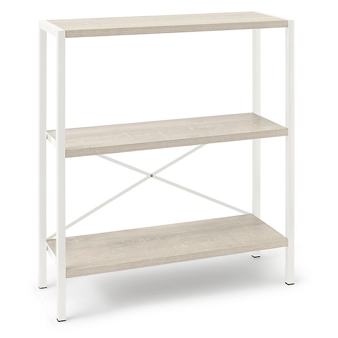 Alternate image 1 for Pilsen 3-Shelf Bookcase in White