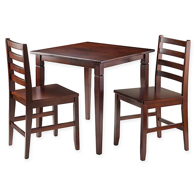 Alternate image 1 for Windsome Trading Kingsgate 3-Piece Dining Set with Ladder-Back Chairs
