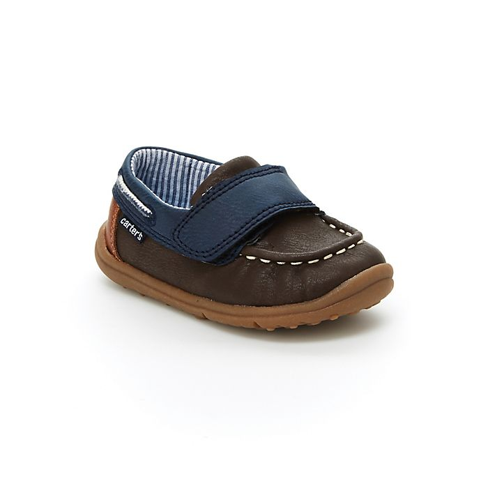 Alternate image 1 for carter's® Size 3 Casual Boat Shoe in Khaki/Brown