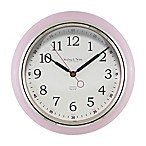 Sterling & Noble Kitchen Round Wall Clock in Light Pink
