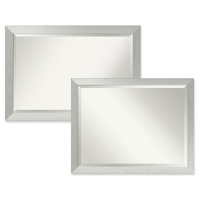 Alternate image 1 for Amanti Art Bathroom Mirror in Brushed Sterling Silver
