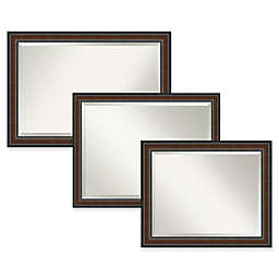 Amanti Art Cyprus Bathroom Mirror in Walnut