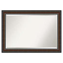 Amanti Art Cyprus 48-Inch x 30-Inch Bathroom Mirror in Walnut