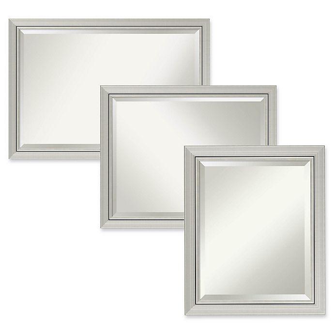 Amanti Art Romano Narrow Bathroom Mirror in Silver | Bed Bath & Beyond