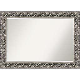 Amanti Art Luxor Bathroom Mirror in Silver