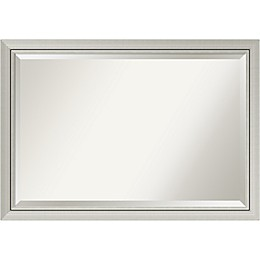 Amanti Romano Narrow Extra Large Wall Mirror in Silver