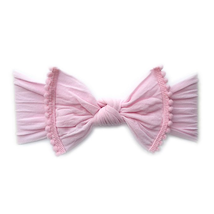 Alternate image 1 for Baby Bling Pom Pom Headband in Pink