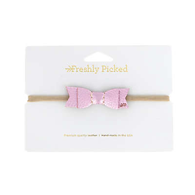 Freshly Picked Leather Bow Headband in Pink