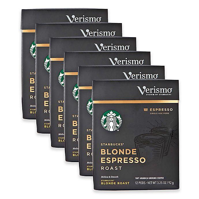 Starbucks Verismo 72 Count Blonde Espresso Pods