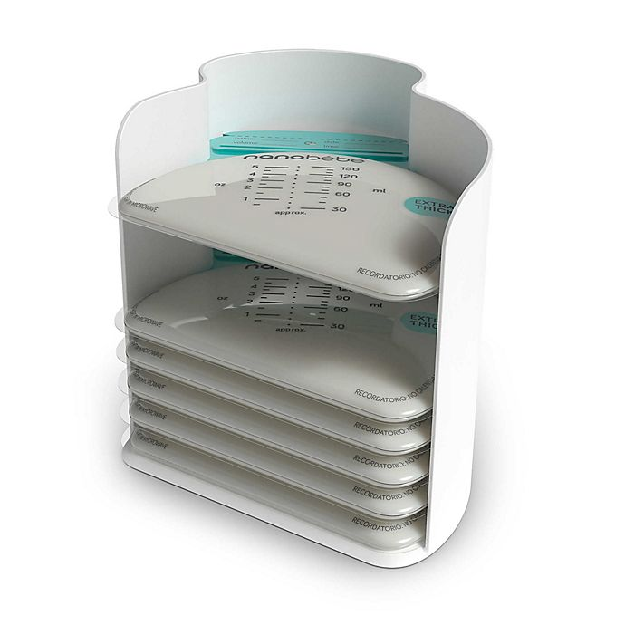 Alternate image 1 for Nanobebe 25-Pack Breast Milk Storage Bags and Organizer