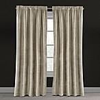 Velvet Plush Nest 84-Inch Rod Pocket/Back Tab Lined Window Curtain Panel in Beige