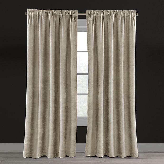 Velvet Plush Nest Rod Pocket Back Tab Lined Window Curtain