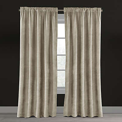 Velvet Plush Nest Rod Pocket/Back Tab Lined Window Curtain Panel