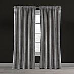 Velvet Plush Nest 84-Inch Rod Pocket/Back Tab Lined Window Curtain Panel in Mushroom