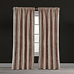 Velvet Plush Nest 84-Inch Rod Pocket/Back Tab Lined Window Curtain Panel in Blush