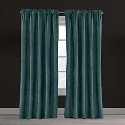 Velvet Plush Nest Rod Pocket/Back Tab Lined Window Curtain Panel