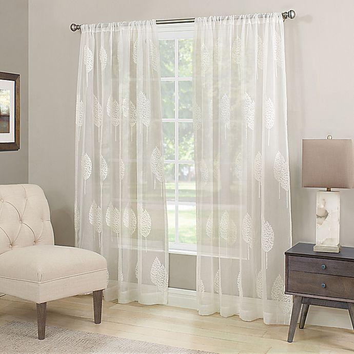 Alternate image 1 for Stafford Semi-Sheer Rod Pocket Window Curtain Panel in Winter White