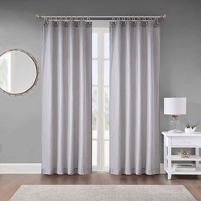 Alternate image 1 for Seychelle Rope Window Curtain Panel in Stone
