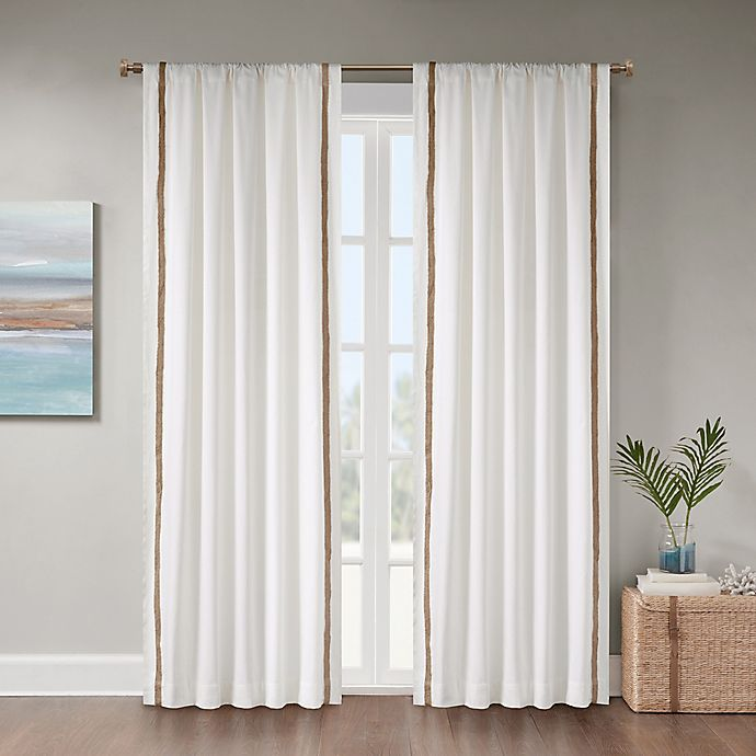 Alternate image 1 for Julia 108-Inch Rod Pocket Room Darkening Window Curtain Panel in White