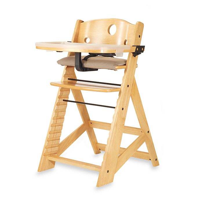 Alternate image 1 for Keekaroo® Height Right High Chair with Tray in Natural