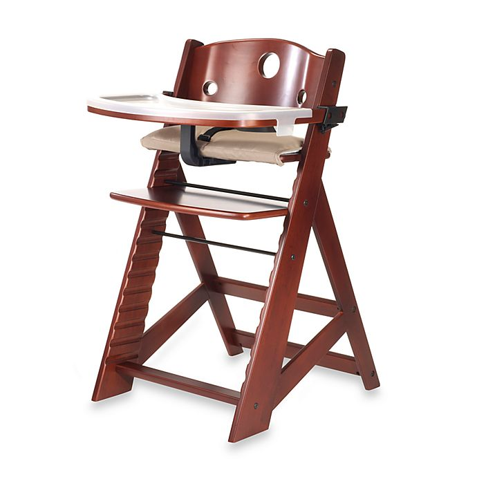 Alternate image 1 for Keekaroo® Height Right High Chair with Tray in Mahogony