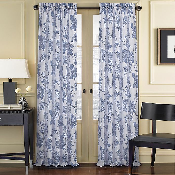 Alternate image 1 for J. Queen New York™ Amanda Sheer 63-Inch Rod Pocket Window Curtain Panel in Blue