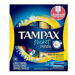 Tampax® Pocket Pearl® 18-Count Regular Unscented Compact Plastic Applicator Tampons