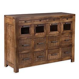 Yosemite Home Décor Rustico 16-Drawer Storage Cabinet In Brown