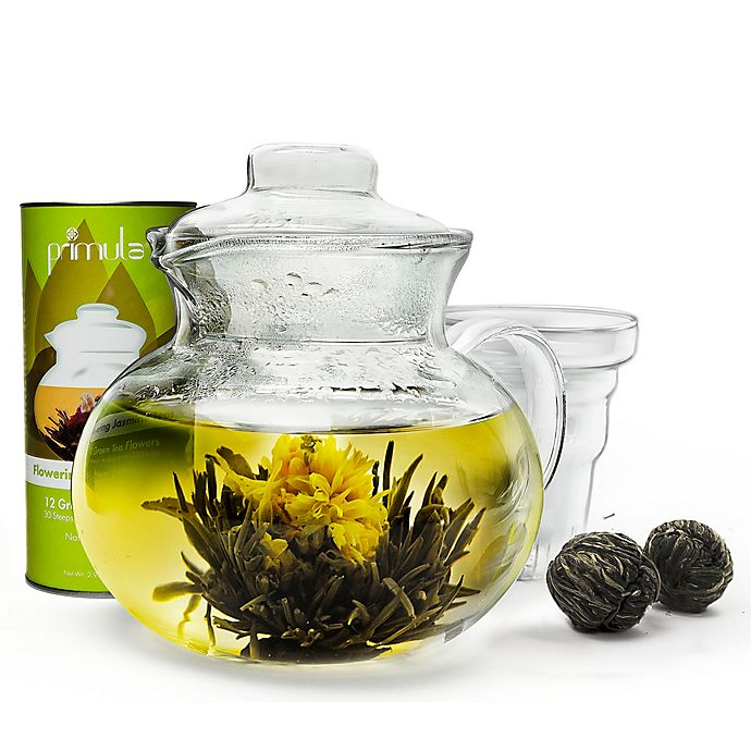 Alternate image 1 for Primula Tea® 12-Count Flowering Teas with 5-Cup Glass Teapot